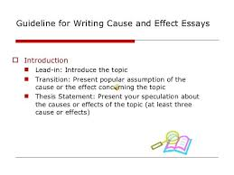 Writing Cause And Effect Essays Cocinacolibri Com