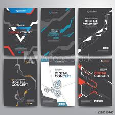 Electronic Brochure Template Set Of Business Cover Brochure Template Digital Electronic