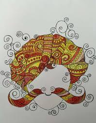 Art Doodle Rajasthani Doodle Art Art_5396_31414 Handpainted Art Painting 11in X 14in