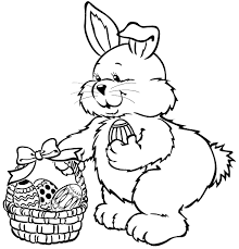 Easter Bunny Coloring Page Coloring Page Book For Kids