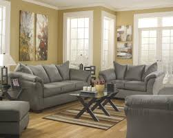 ashley living room furniture. Interesting Furniture Signature Design By Ashley Darcy  Cobblestone Contemporary Sofa Chaise  With Flared Back Pillows  A1 Furniture U0026 Mattress Sofas On Living Room 1