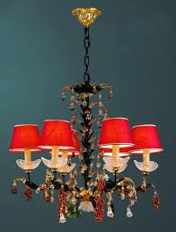 red lampshade chandelier 1 red lampshade chandelier 2