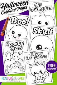 Cute Halloween Coloring Pages For Kids Free Halloween Coloring Pages For Kids Fun For Little Ones