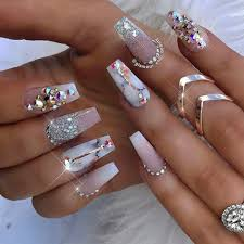 Nail Designs With Jewels Nail Ideas Girly Nail Designs With Diamonds For Summer My