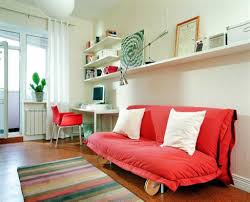 modern study room with red awesome home study room