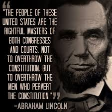 the power belongs to the people and the men who pervert our  abraham lincoln