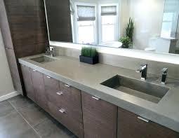 concrete bathroom sinks vanity tops cement sink trough polished countertop diy