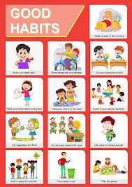 Chart On Healthy Habits Paper Plane Design Good Habits Educational Charts For Kids Home And School Paper A3 Multicolour