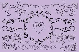 We offer svg files for cricut, silhouette cameo and other vinyl cutting machines for all your crafting projects. Swirls Swashes And Flourishes Graphic By Carrtoonz Creative Fabrica