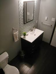 bathroom remodel black vanity.  Bathroom Bathroom Remodel On A Budget Ideas Rectangular White Wooden Vanity Cabinets  Marble Tile Shower Backsplash Black Inside