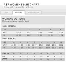 jean size converter abercrombie and fitch womens size chart jeans hub