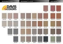 Davis Concrete Color Chart Davis Integral Concrete Color Chart Colored Concrete Patio