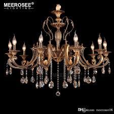 10 heads brass chandelier light fixture antique brass pendant vintage copper crystal lamp res lighting 100 guaranteed chandelier black chandeliers