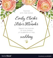card invitation wedding invitation floral invite card design with vector image