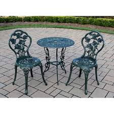 deck wrought iron table. Image Is Loading 3-Piece-Bistro-Set-Patio-Outdoor-Table-Chairs- Deck Wrought Iron Table I