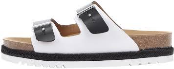 černo Bílé Dámské Kožené Zdravotní Pantofle Scholl Olympe