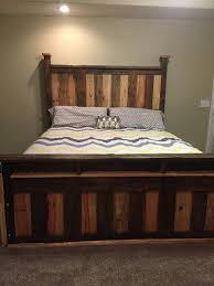 Pallet Bedroom Furniture Diy Pallet Bed Headboard And Frame Pallet Bedroom 1001 Pallets