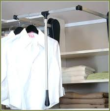 closet pull out hanging rod photo 7 of 8 pull down closet rod exceptional images clothes
