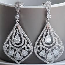 vintage style crystal chandelier earrings