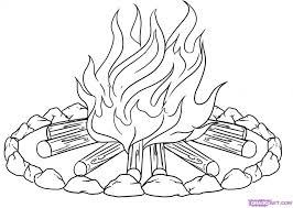 Small Picture Camp Fire Colouring Pages 246759 Campfire Coloring Pages