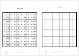 Printable 100 counting charts for students Edgalaxy Cool Stuff