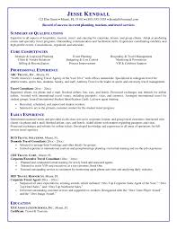 Cover Letter Travel Agent Resume Examples Corporate Travel Agent
