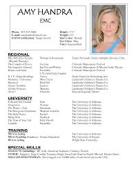resume actors resume sample - Headshot And Resume Sample