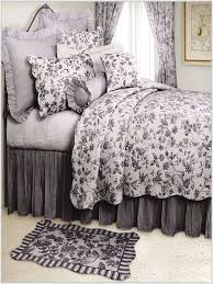 toile comforter sets queen fresh blue french bedding 14379 15