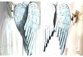 wall merry wooden angel wings wall decor large rustic distressed wood metal excellent ideas for