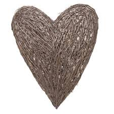 Large Wicker Heart With Lights Extra Large Wicker Heart Wall Art Barker Stonehouse