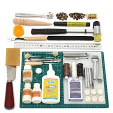 vintage leather craft tools kit stitching sewing beveler punch leather working hand tool set newchic