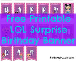 Surprise Images Free Free Printable Lol Surprise Birthday Banner Abby Graces 8th