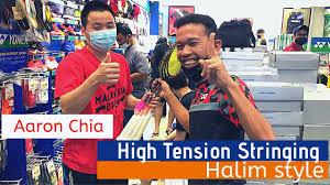 Jul 29, 2021 · lawan mereka nombor 1 dunia, namun beregu negara tidak sedikit pun gentar demi malaysia. High Tension Stringing Halim Style Aaron Chia Malaysia National Player Racket Youtube