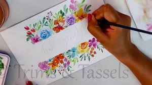 Free Painting Designs Free Hand Painting With Easy Tips For Beginners Diy Watercolor Painting Card Making Ideas