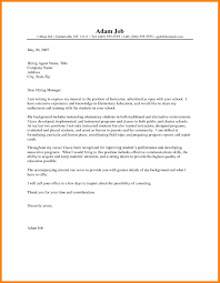 First Yearer Cover Letter Examples Kindergarten To Parents Grade