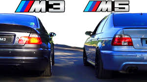 BMW Convertible e46 bmw performance exhaust : BMW M5 vs BMW M3 Sound E39 E46 Exhaust REVS revving Battle BMW ...
