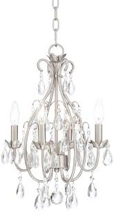 literarywondrous chandelier awesome brushed nickel crystal chandelier excellent brushed nickel mini crystal chandelier
