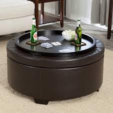 amazing round storage ottoman with tray for charming best 25 pertaining to leather remodel 15 architecture beige ottoman coffee table