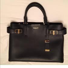 michael kors collection soft leather designer bag