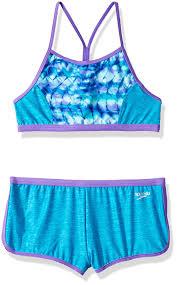 Speedo Two Piece Size Chart Speedo Womens Rhythmic Tie Dye Boyshort Two Piece Swimsuit