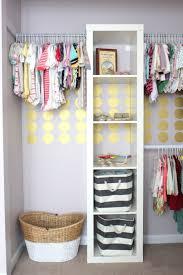 Gold Polka Dots in Nursery Closet - Project Nursery