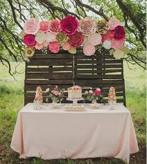 Paper Flower Photo Booth Backdrop Large Paper Flower Backdrop For Weddings Baby Showers Or Events