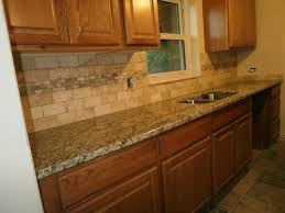 countertop and backsplash ideas with oak cabinets