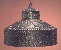 punched tin lighting fixtures. antique tin pierced pendant light shade hammerworks sh102 punched lighting fixtures s