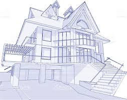 architecture blueprints 3d. House Blueprint: 3d Technical Concept Draw Royalty-free Blueprint Architecture Blueprints