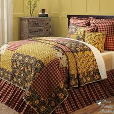 red country cottage fl patchwork twin queen cal king size quilt bedding set