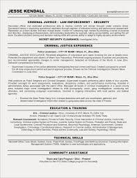 Criminal Justice Resume Templates April Onthemarch Police Resumes