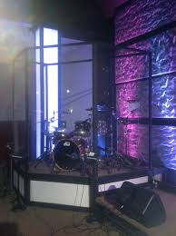 Church Stage Platform Design Drum Cage On Mini Platform Church Stage Design Drum Cage