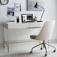 white desk home office. Exellent Office West Elm Lacquer Storage Desk White Glam White Desks Home Office Intended Home Office C