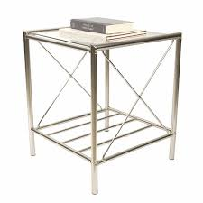 glass top nightstand.  Glass Marco Glass Top Nightstand With